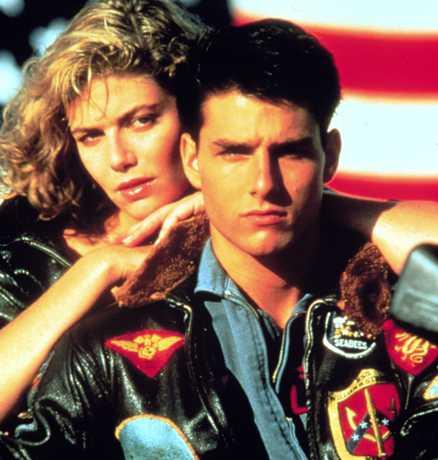 Top Gun Kelly McGillis och Tom Cruise.