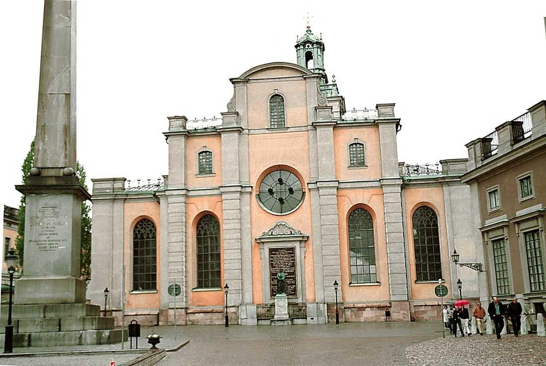 Kyrka för kungliga bröllop Storkyrkan i Gamla stan.