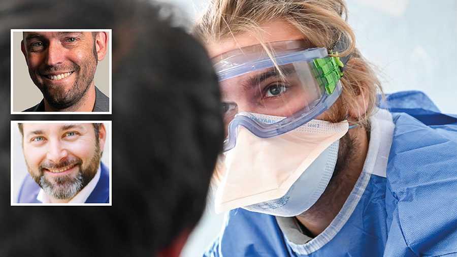 I dag samlas hälsoministrar från hela världen på WHO:s årsmöte. På mötet måste ledarna enas om att vaccin och behandling ska tilldelas efter behov och inte efter förmåga att betala, skriver Oliver Schulz och Johan Pettersson. På bilden undersöker en läkare från Läkare utan gränser ett barn med symptom på covid-19 i Morialägret på Lesbos.