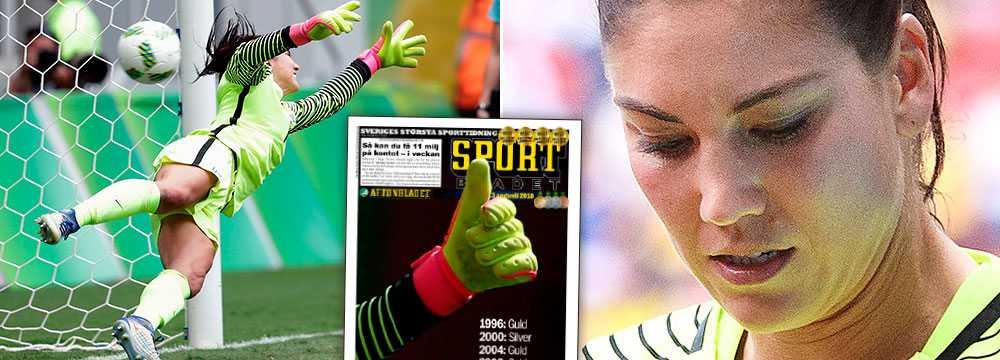 SPARKADES UT. Hope Solo fick fotbollsvärlden mot sig och stängdes av efter OS-kvartsfinalen mot Sverige.