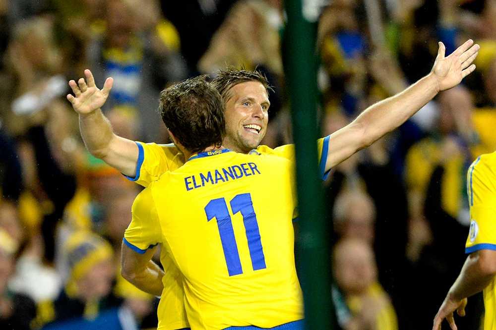 Anders Svensson gjorde viktiga 2-1 mot Irland i VM-kvalet den 6 september 2013.