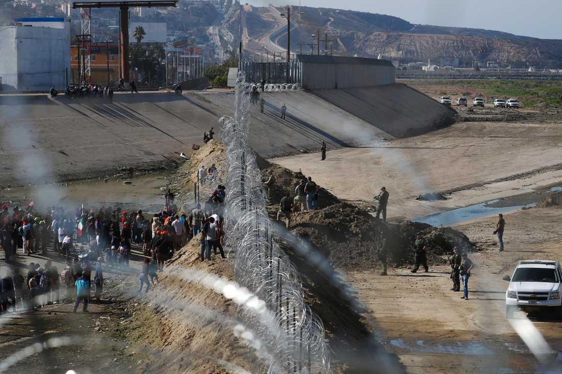 Gränsen mellan Mexiko och USA i Tijuana.