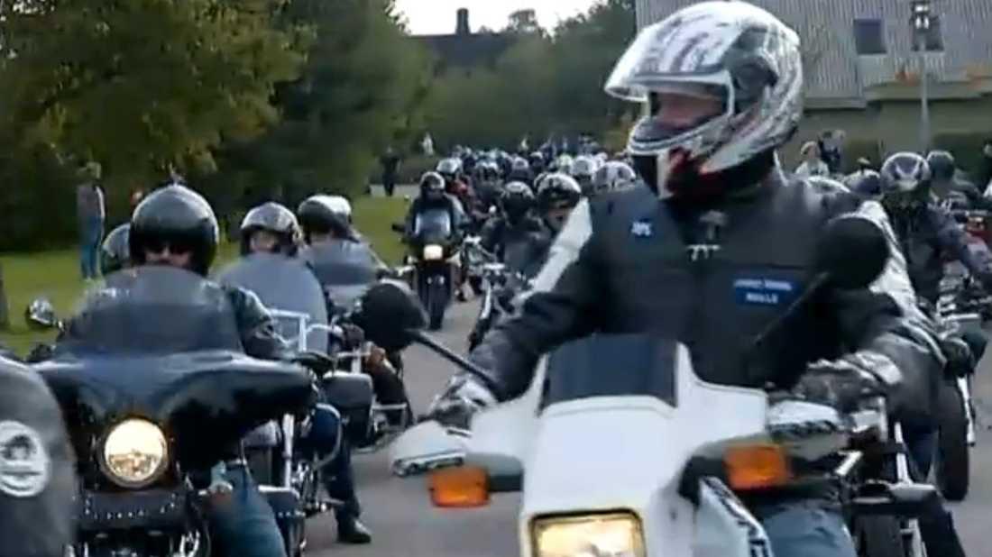 217 motorcykelförare dök upp.