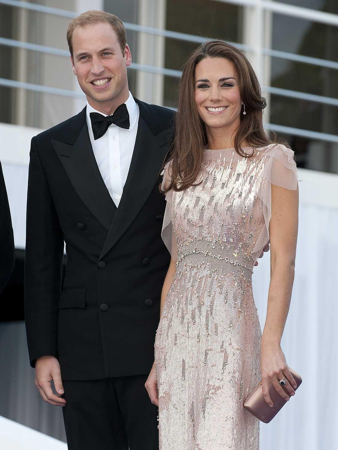 Kate Middleton tillsammans med sin prins William.