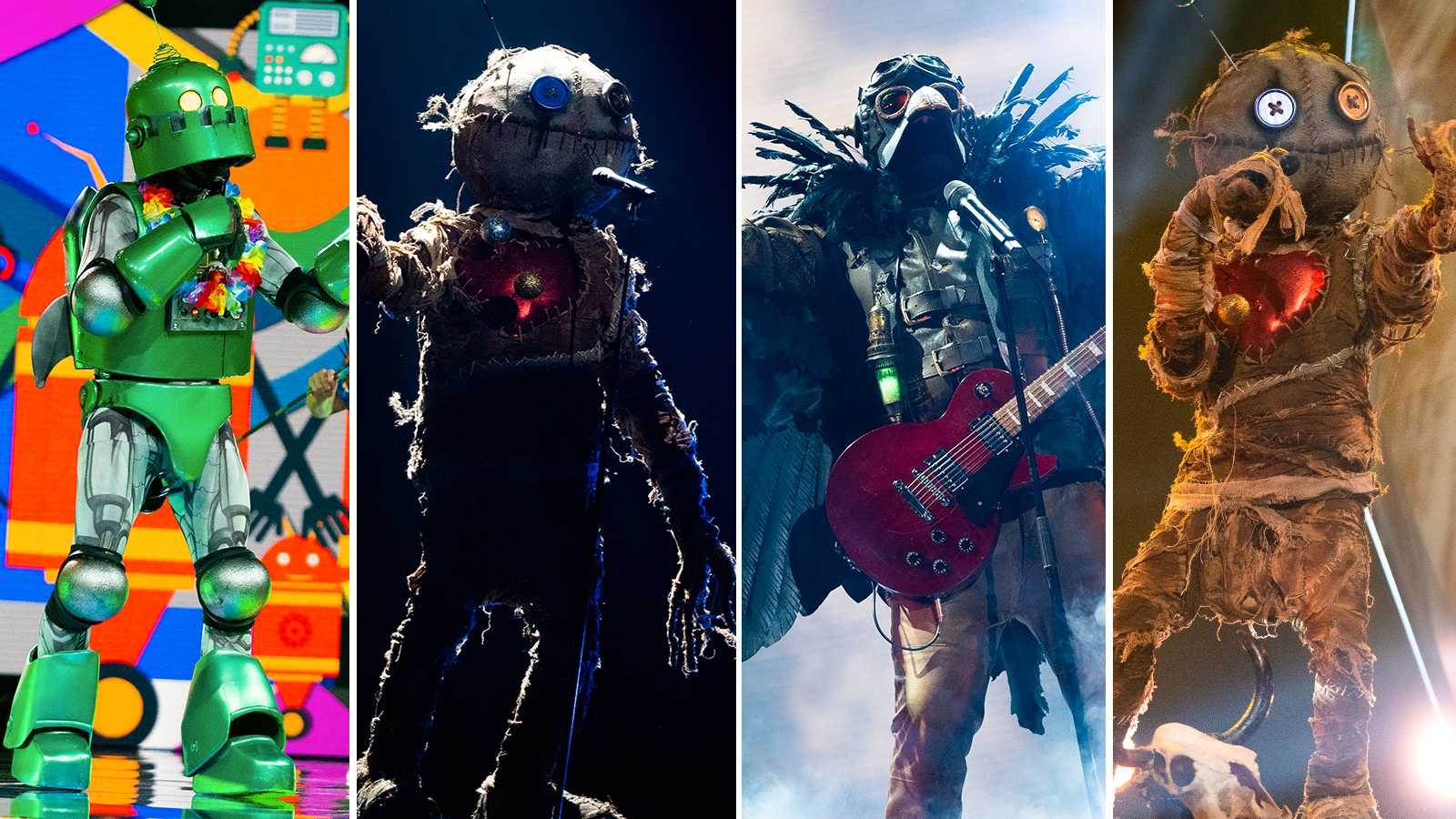 Masked singer 30 april 2021 - korpen, draken, roboten ...