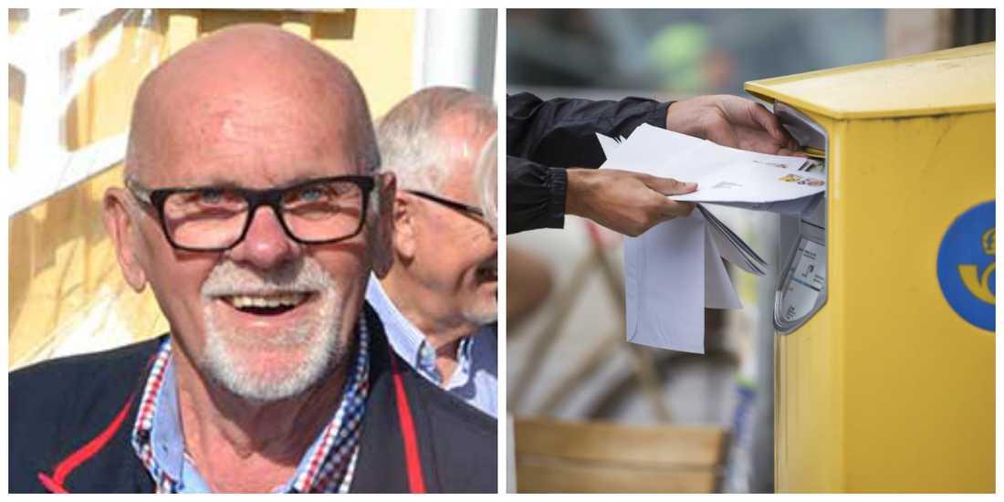 Sven-Olofs post kom aldrig, så han tog saken i egna händer. (Fotot till höger är en exempelbild)