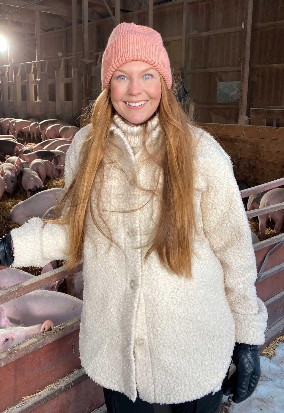 "Jenny Pettersson i ""Bonde söker fru"". Pressbild."