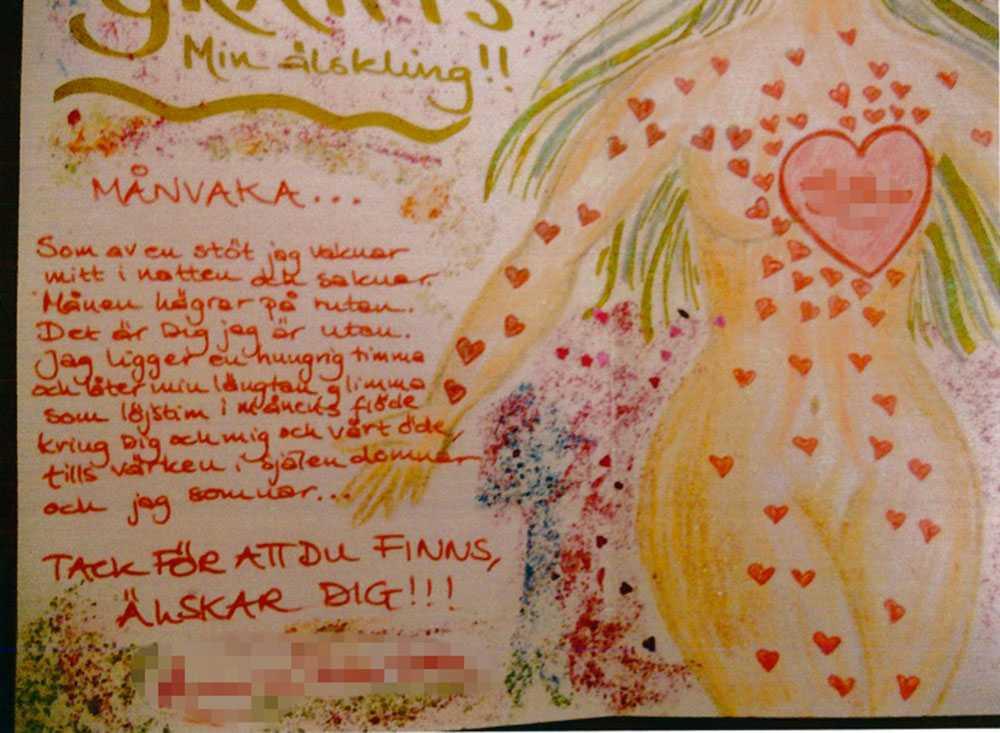 """Kvinnan har skickat en kärleksdikt till pojken som hon gett namnet """"Månvaka""""."""