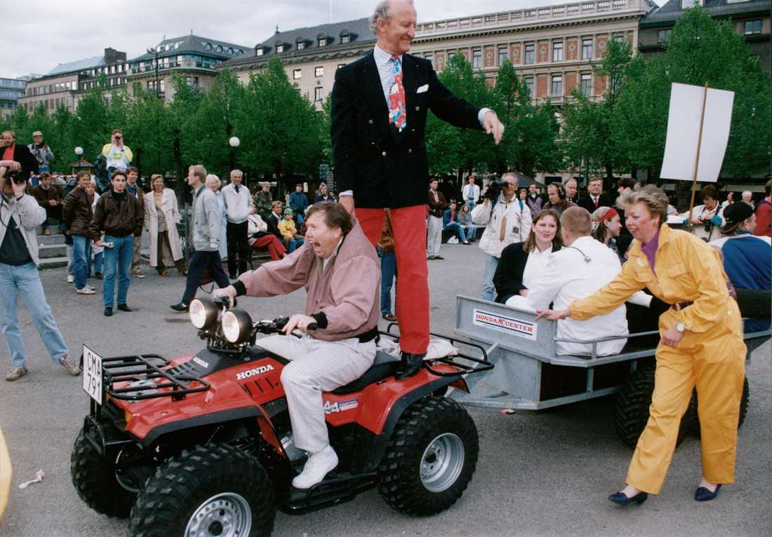 Ian Wachtmeister och Bert Karlsson 1991