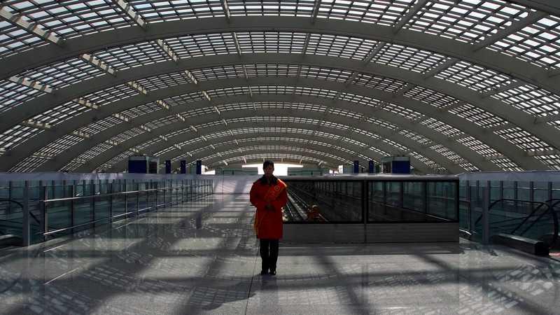 Den nya terminalen innan den togs i bruk 2008.