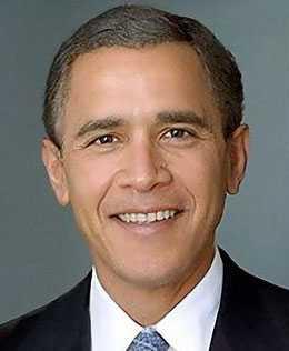 Bilden där George W Bushs och Barack Obamas ansikten smälts samman fick snabbt spridning i sociala medier.