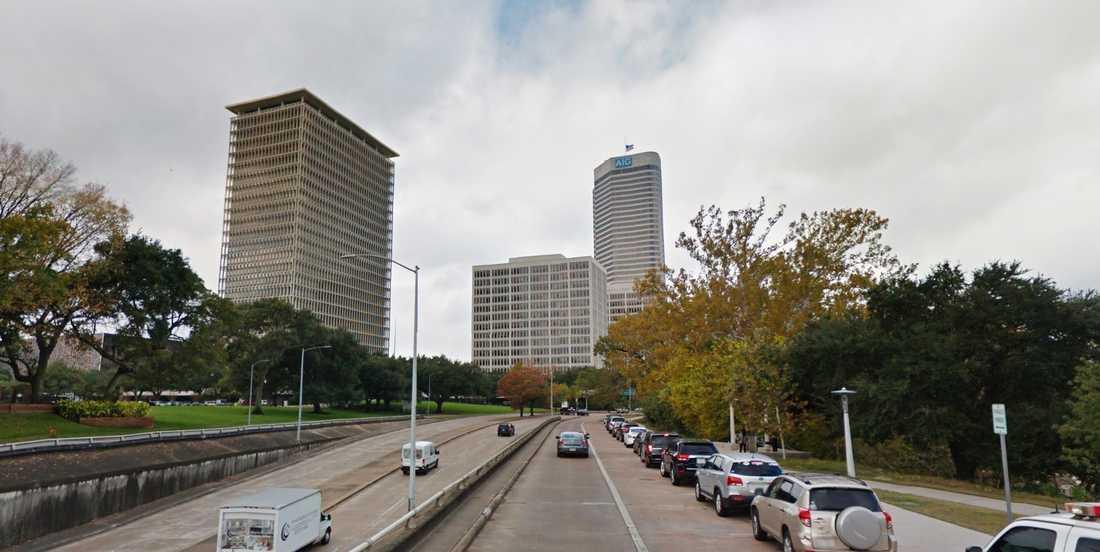 American General Center i Houston innan orkanen.