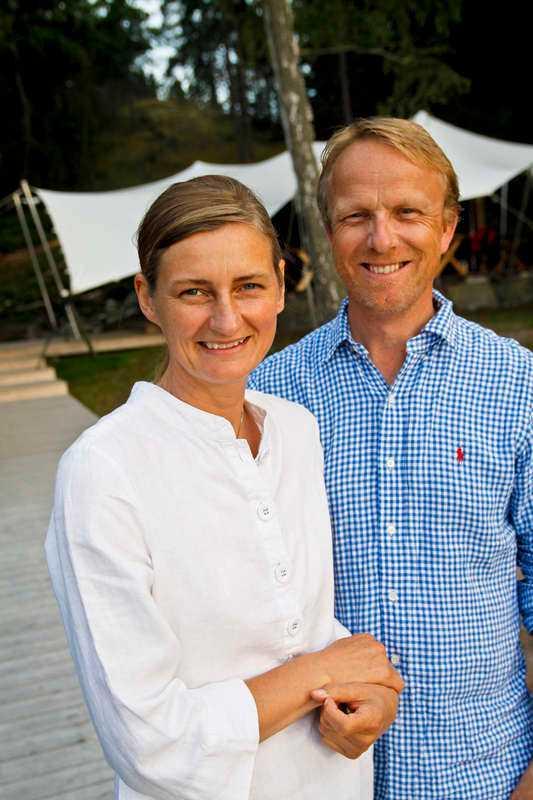 Kristina Bonde och Torkild Berglund driver lyxcampingen Island Lodge.