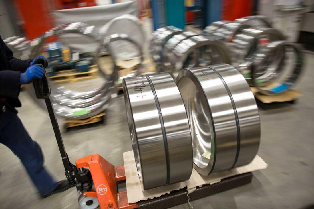 Tillverkning av kullager, dock här på SKF:s fabrik i Göteborg. Arkivbild.