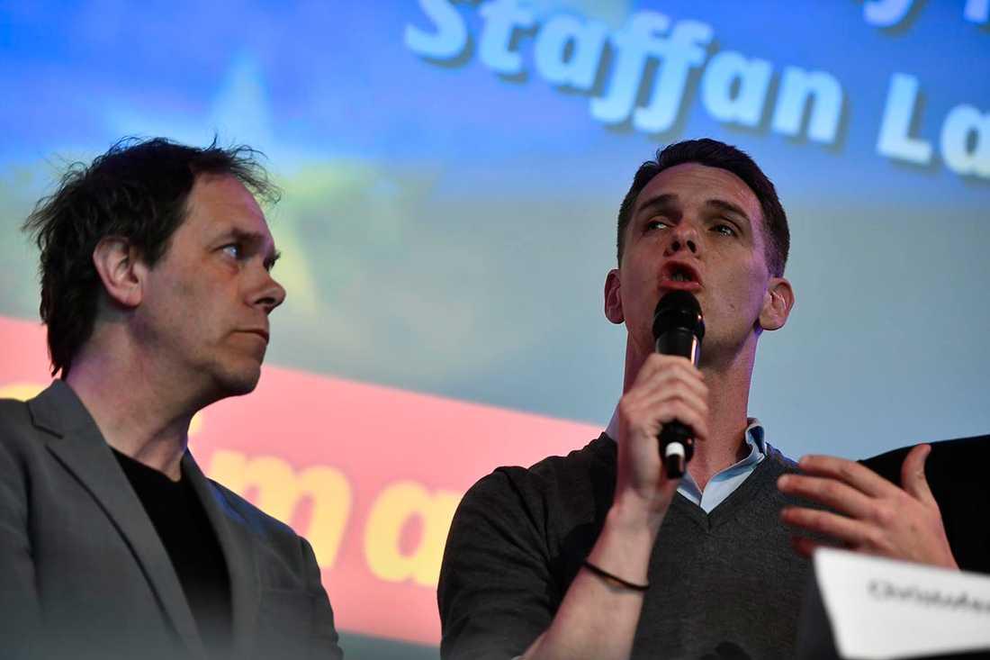 Pär Holmgren (MP) och Christofer Fjellner (M).