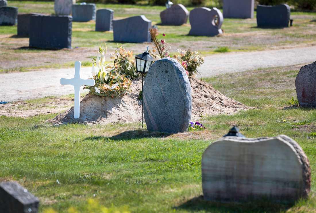 En man, misstänkt för att ha skändat flera gravar i Stockholm, har gripits. Arkivbild.