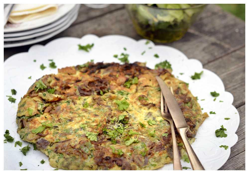 Omelett med rödlök – Paolos mat