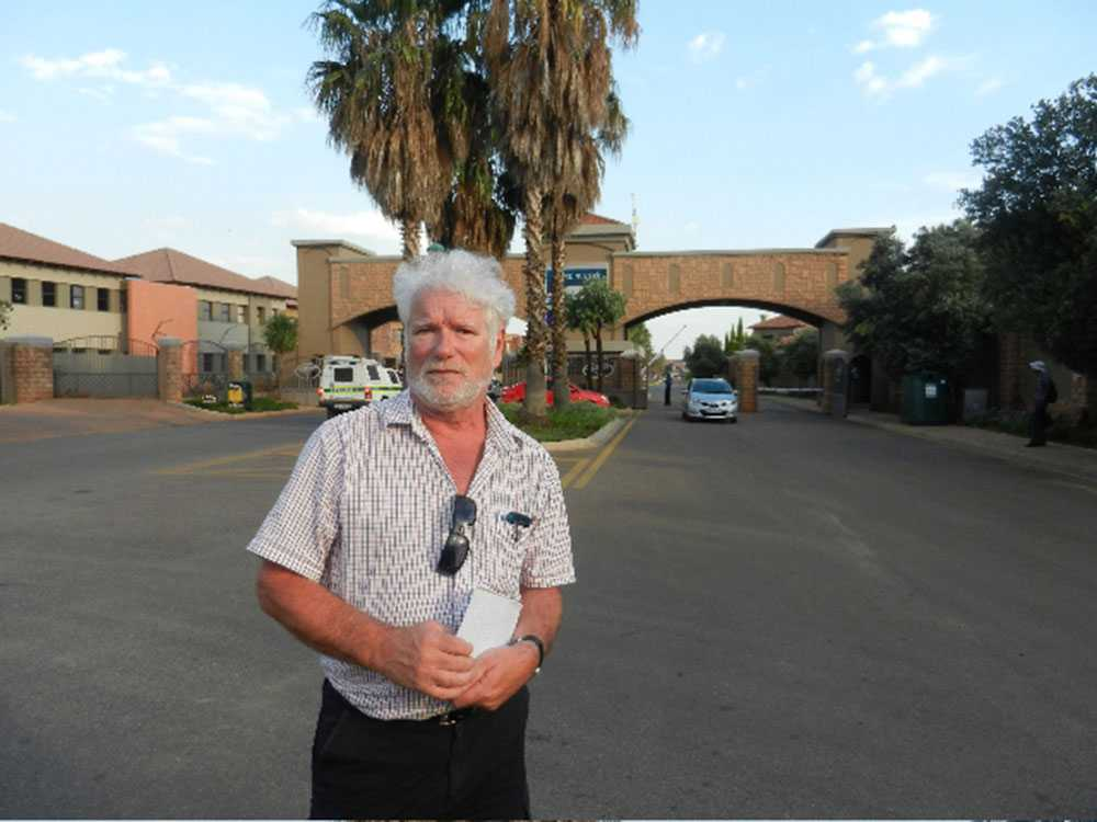 Aftonbladets Pelle Tagesson på plats i Pretoria.