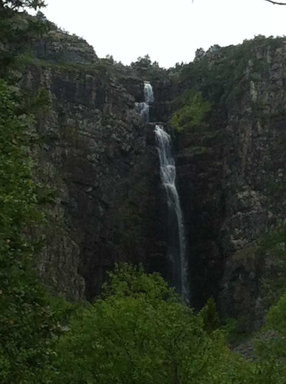 Sveriges högsta vattenfall, Njupeskär