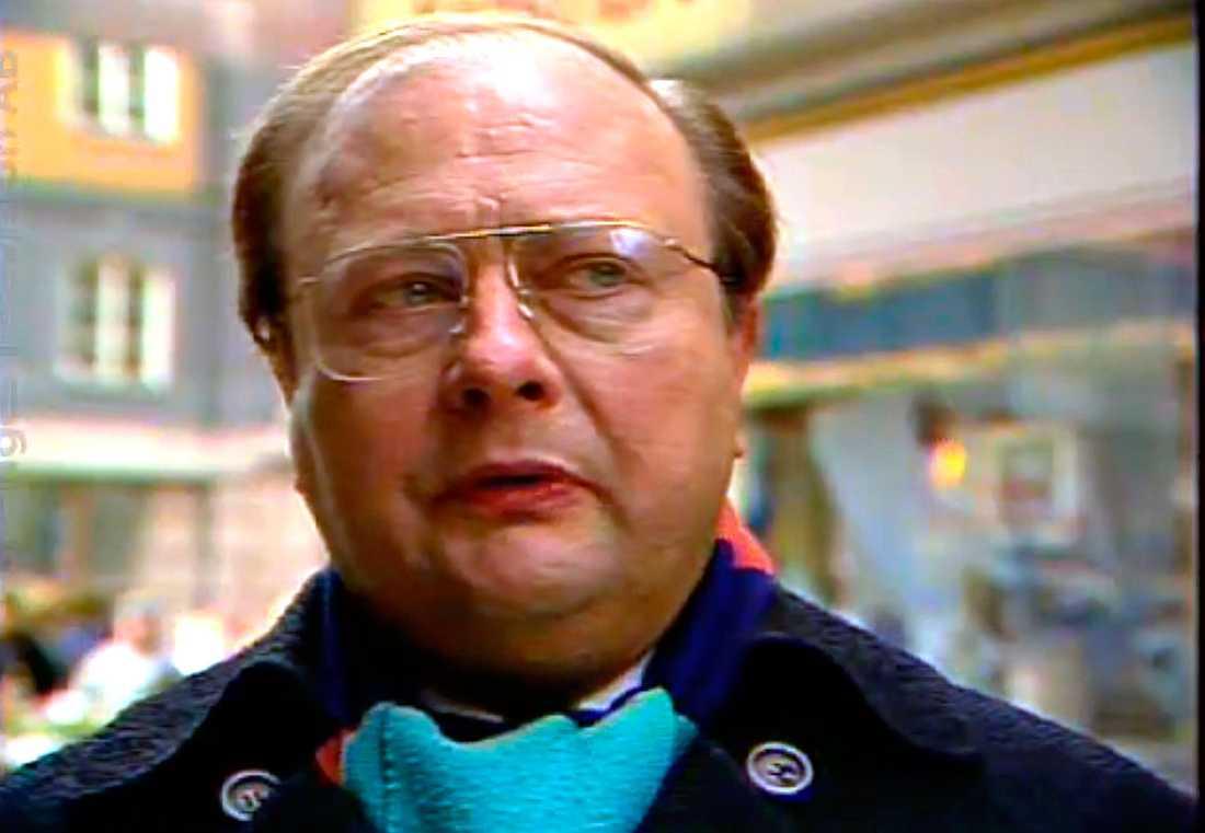 "Stig Engström, known as ""Skandia man"", died in 2000."
