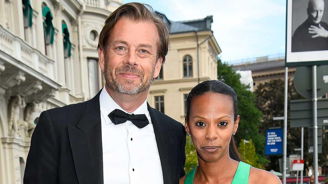 Brlöllopsparet Lili Assefa och Michael Wolf fångade vid ett tidigare tillfälle.