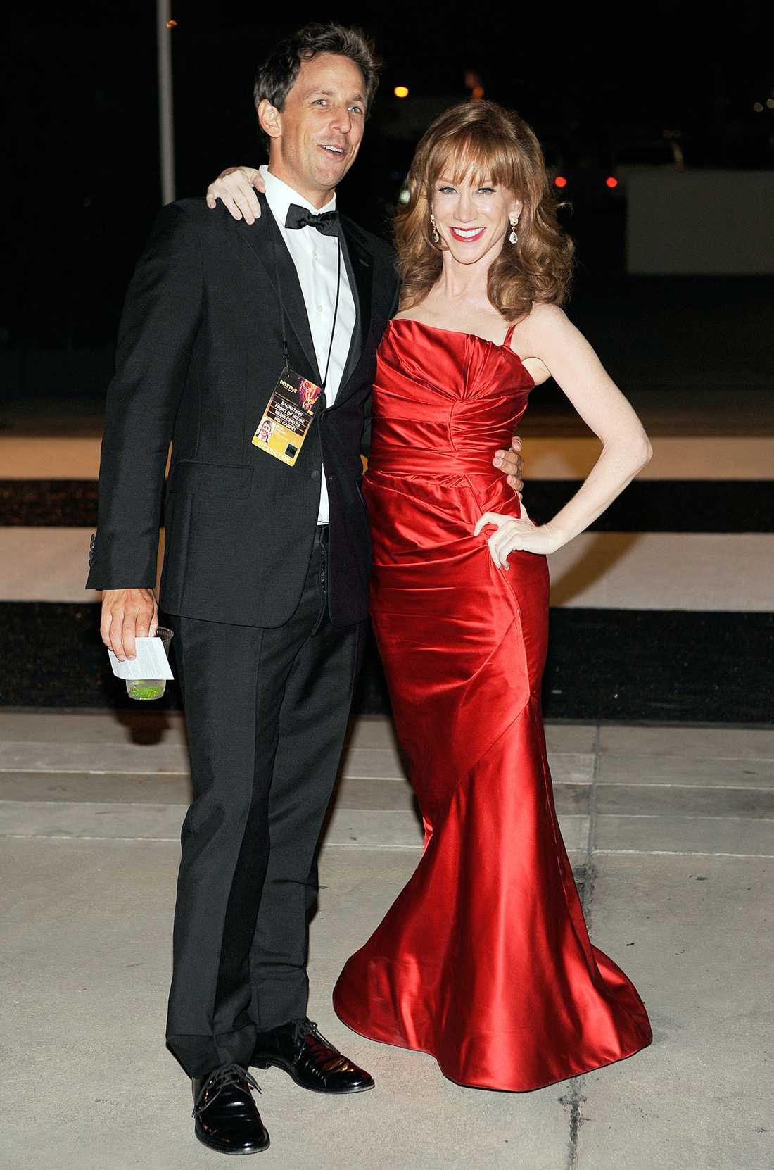 Seth Meyers och Kathy Griffin.