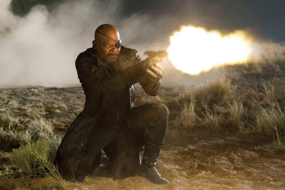 "Samuel L. Jackson som Nick Fury i ""The avengers"" från 2011."