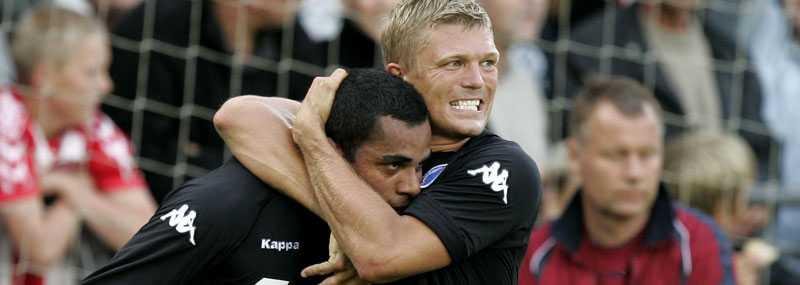 Marcus Allbäck och Alvaro Santos i FC Köpenhamn.