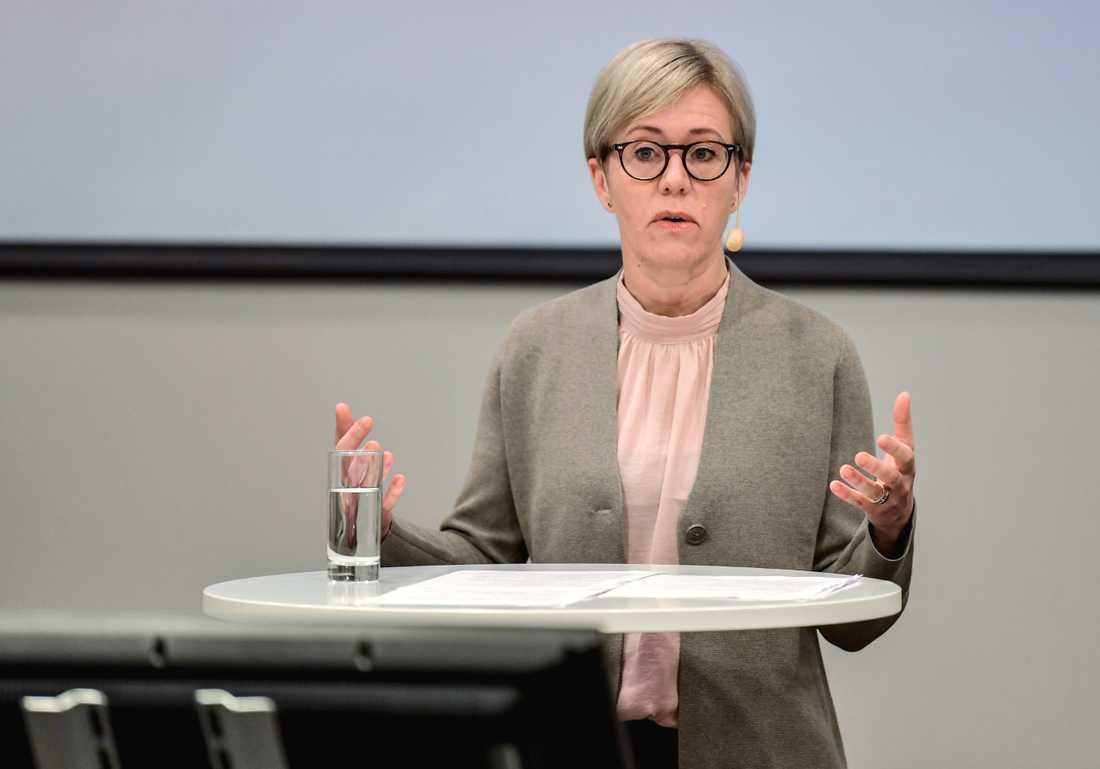 Sofia Wallström, generaldirektör på Ivo, under en pressträff.