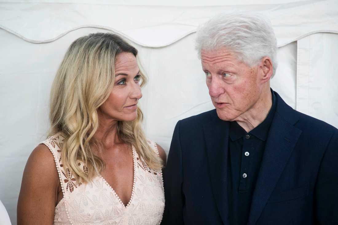 Bill Clinton och Kristin Kaspersen.