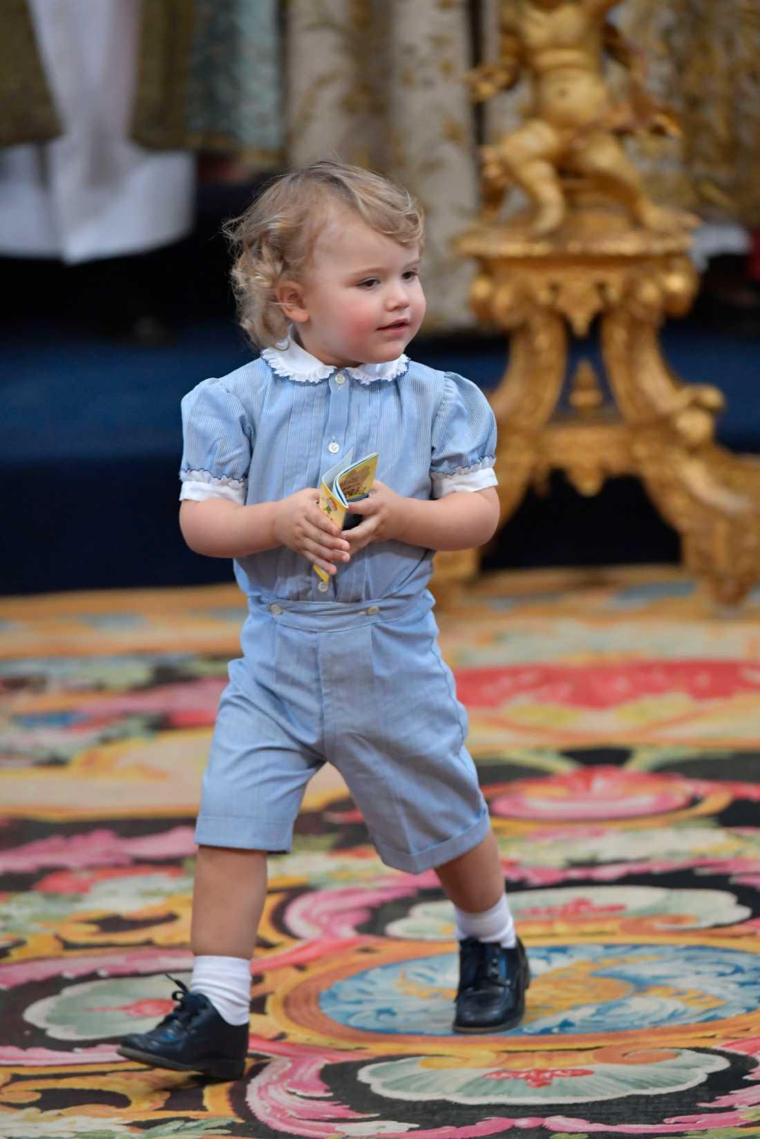 Prins Alexander under dopgudstjänsten för prinsessan