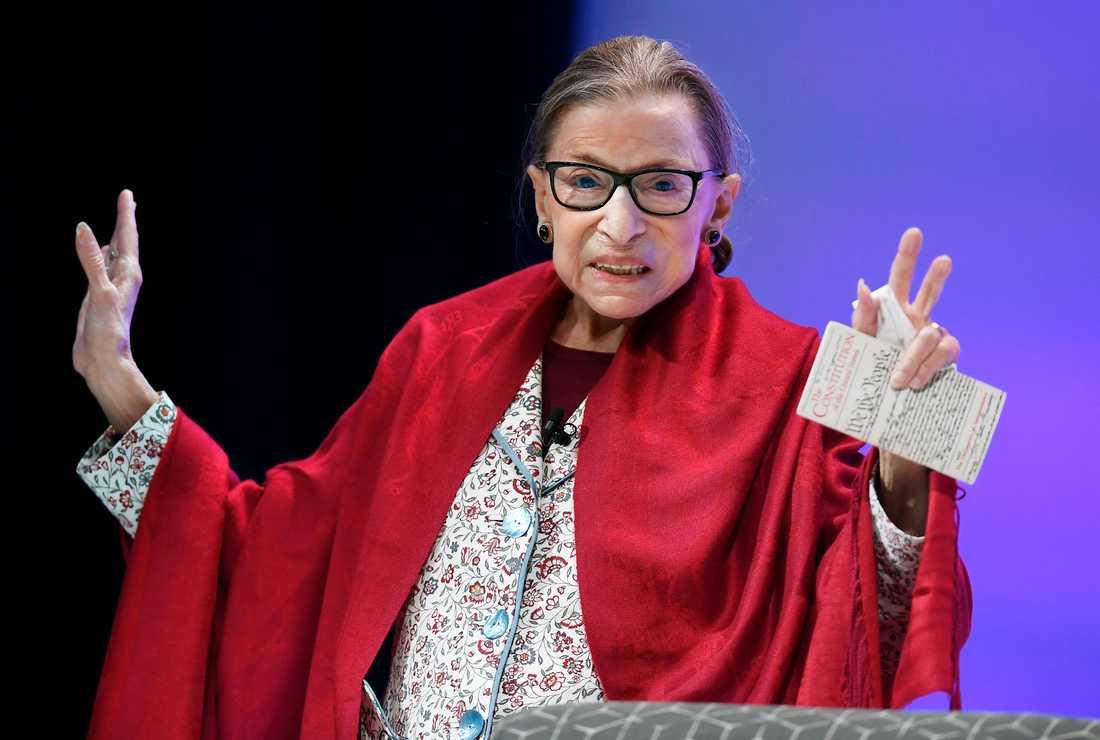 HD-domaren Ruth Bader Ginsburg avled i fredags. Arkivbild.