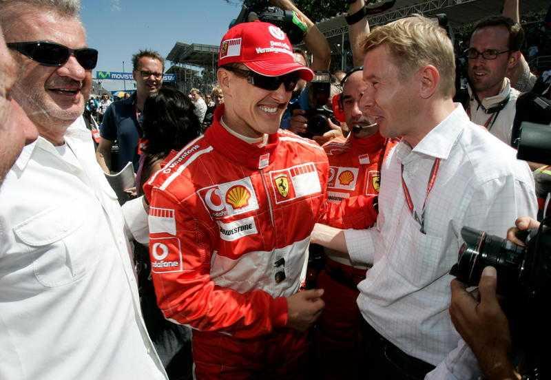 Mika Häkkinen kraschade svårt 1995 och låg i koma i tio dagar.