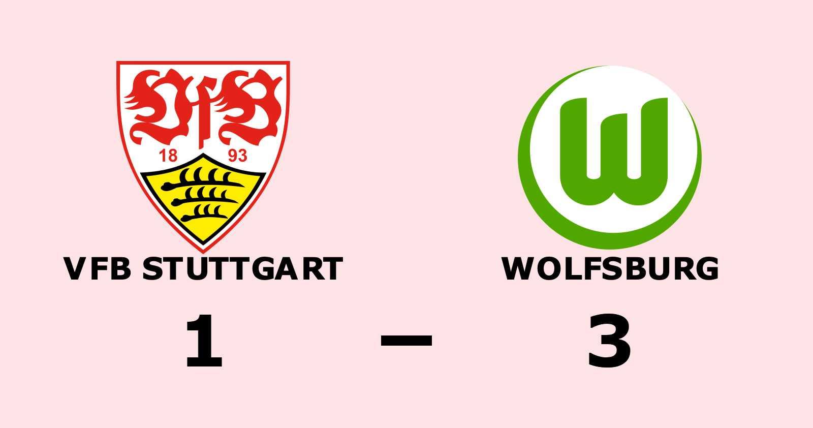 Wolfsburg slog VfB Stuttgart på bortaplan