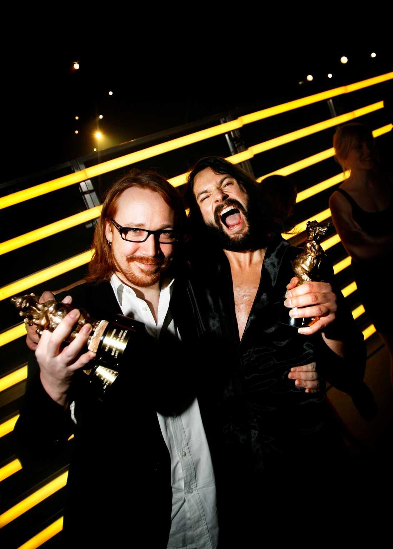 Blyger och...Toker? Lasse Winnerbäck och Ola Salo i The Ark 2008.
