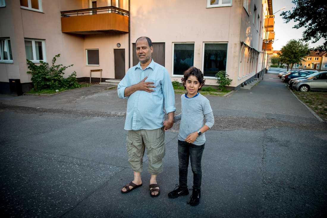 När Darragi kom till platsen fick han en flashback från sitt gamla hemland Irak
