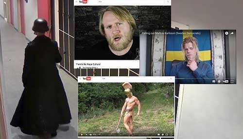 """Anton Lundin Pettersson (t v) som för exakt ett år sen mördade tre personer på Kronans skola i Trollhättan, följde vloggarna """"The amazing atheist"""" (Thomas James Kirk) och """"The golden one"""" (Marcus Follin)."""