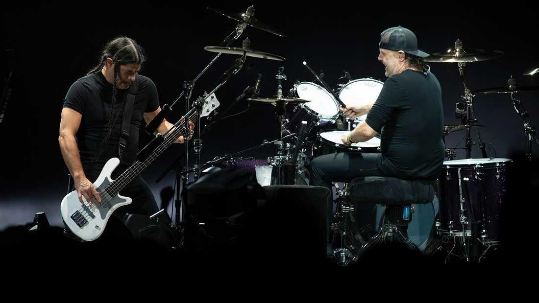 Robert Trujillo och Lars Ulrich som vi är vana att se dem.