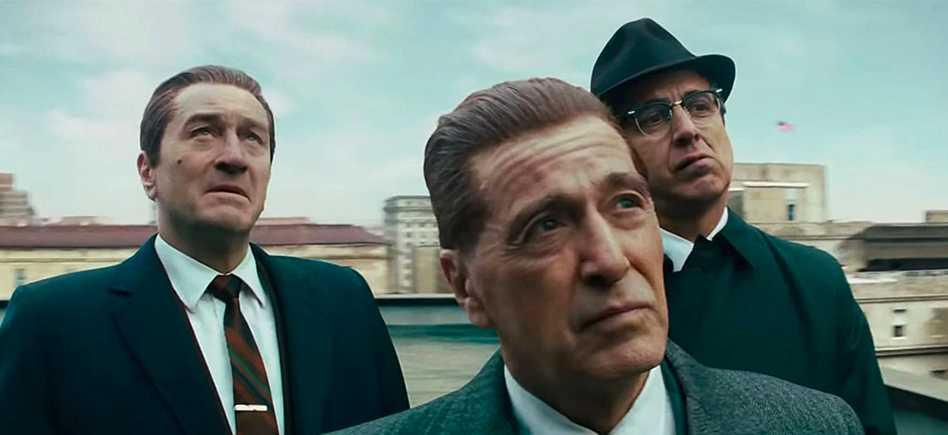 "Robert De Niro, Al Pacino och Ray Romano i ""The Irishman""."