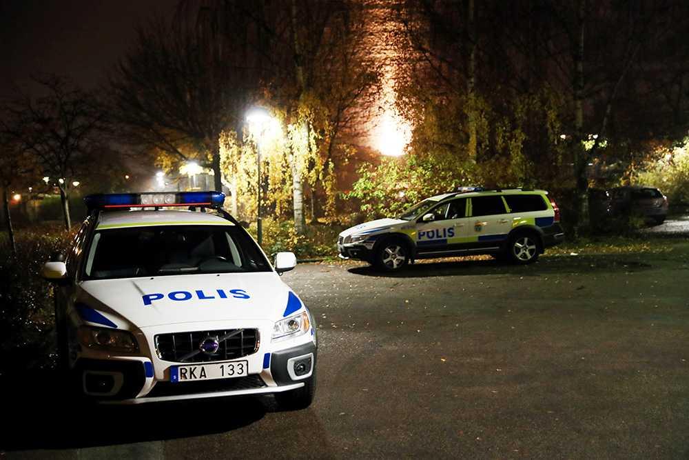 Skottlossning i trapphus i Malmö.
