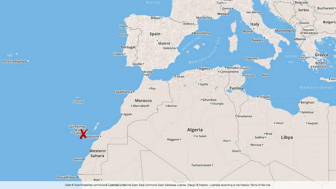 Gran Canaria tillhör ögruppen Kanarieöarna, som ligger strax väster om Afrika.