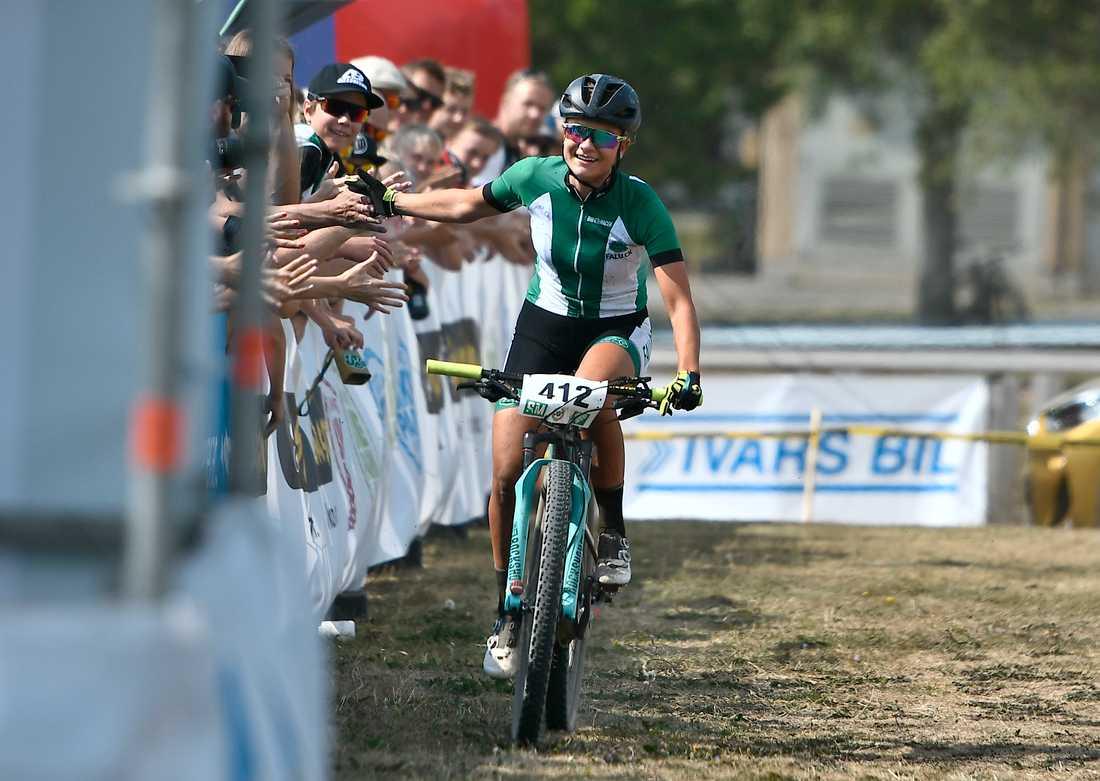 Jenny Rissveds har brottats med depression efter OS-guldet 2016 men gjorde i Nove Mesto världscupcomeback. Arkivbild.