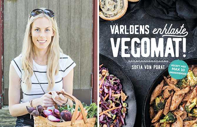 Recept från boken Världens enklaste vegomat,  Sofia von Porat, Nathan Schacherert, Tukan förlag.