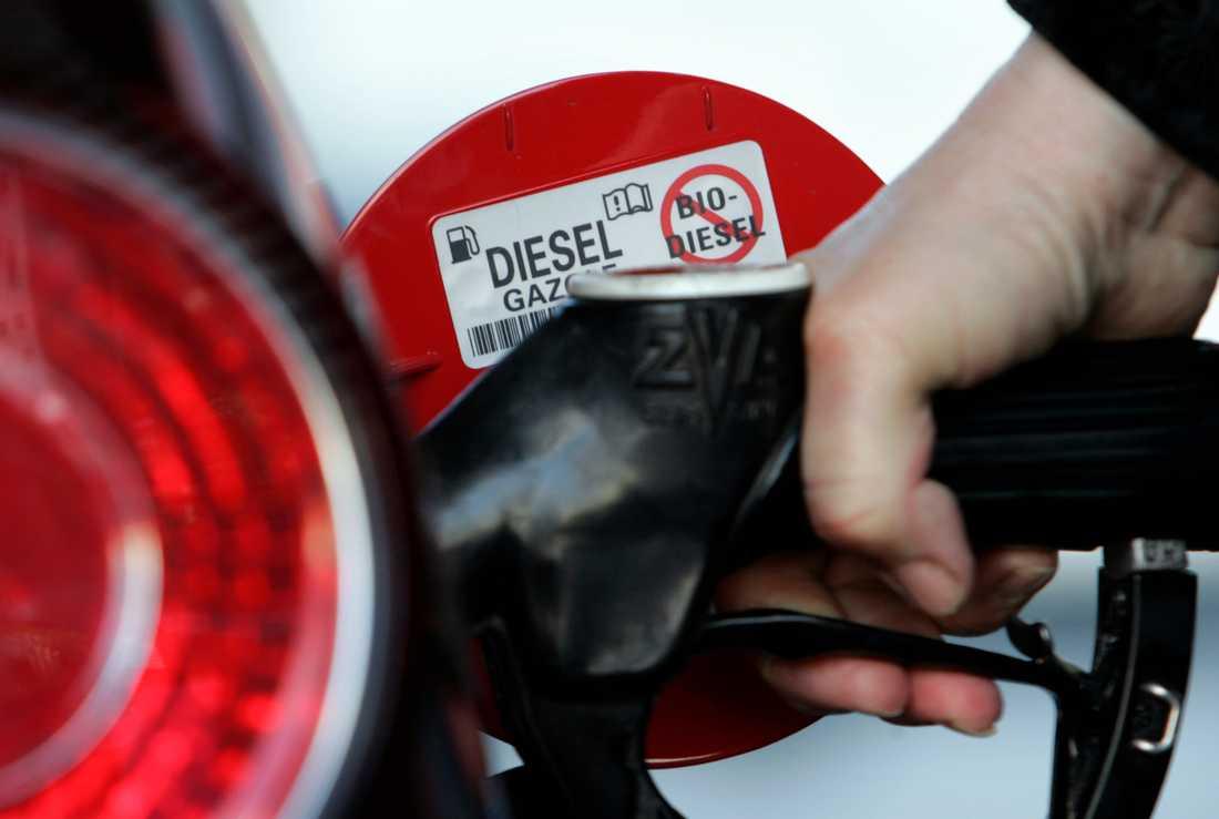 Dieselbilarna står för runt hälften av all nyförsäljning.