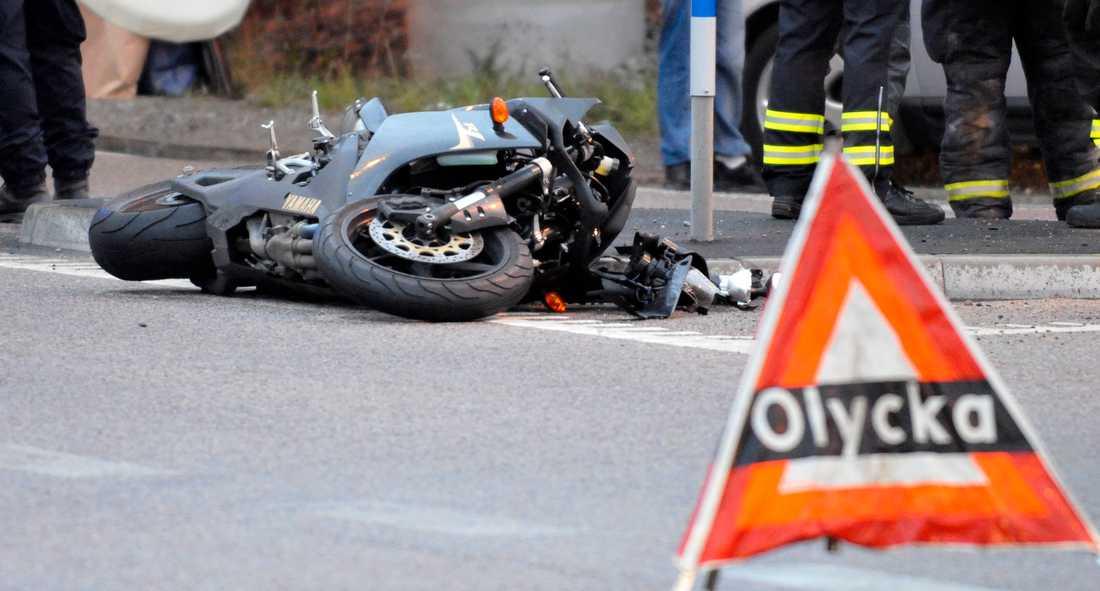 2019 dog 29 personer i motorcykelolyckor i Sverige, en tydlig minskning från 2018 då 47 personer omkom. Arkivbild.