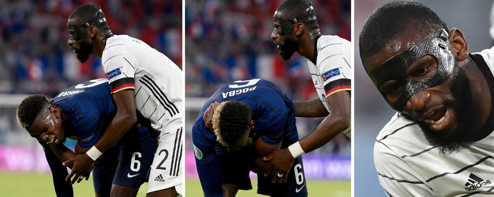 Antonio Rüdiger tog ett bett av Paul Pogba.