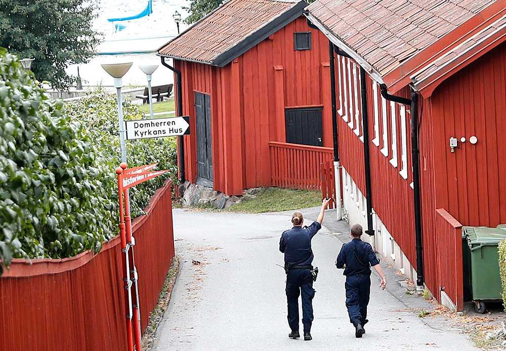 Utanför Strängnäs domkyrka