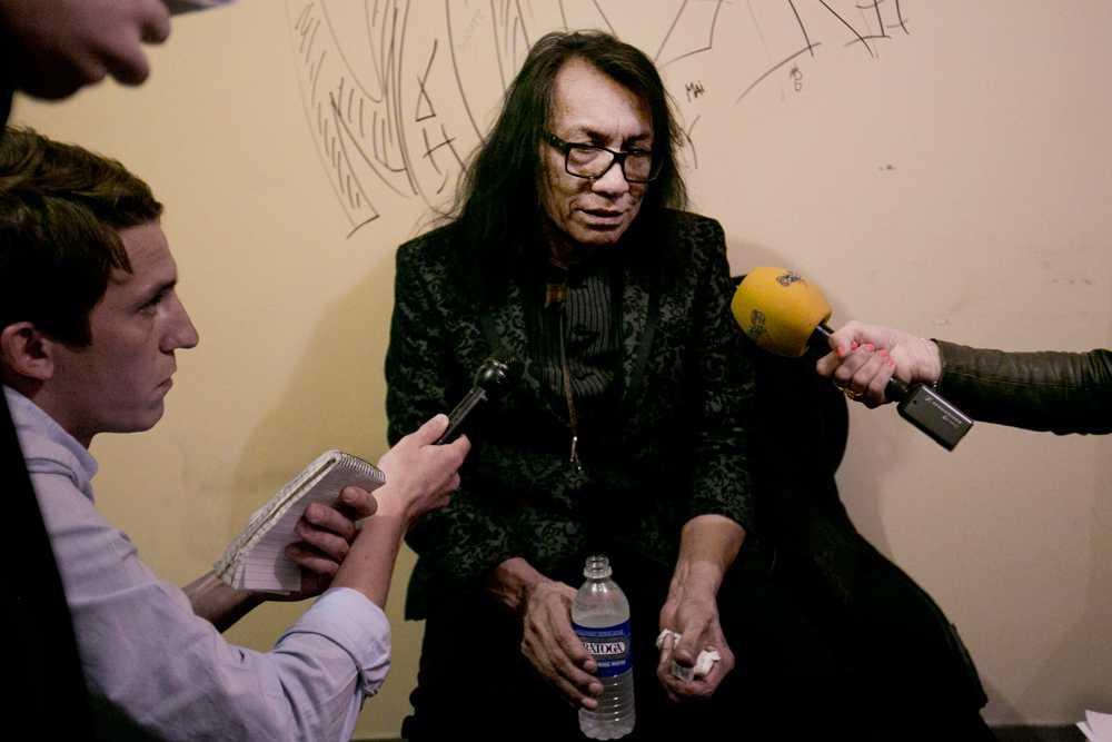 Sixto Rodriguez hyllade Malik före en konsert i Chicago