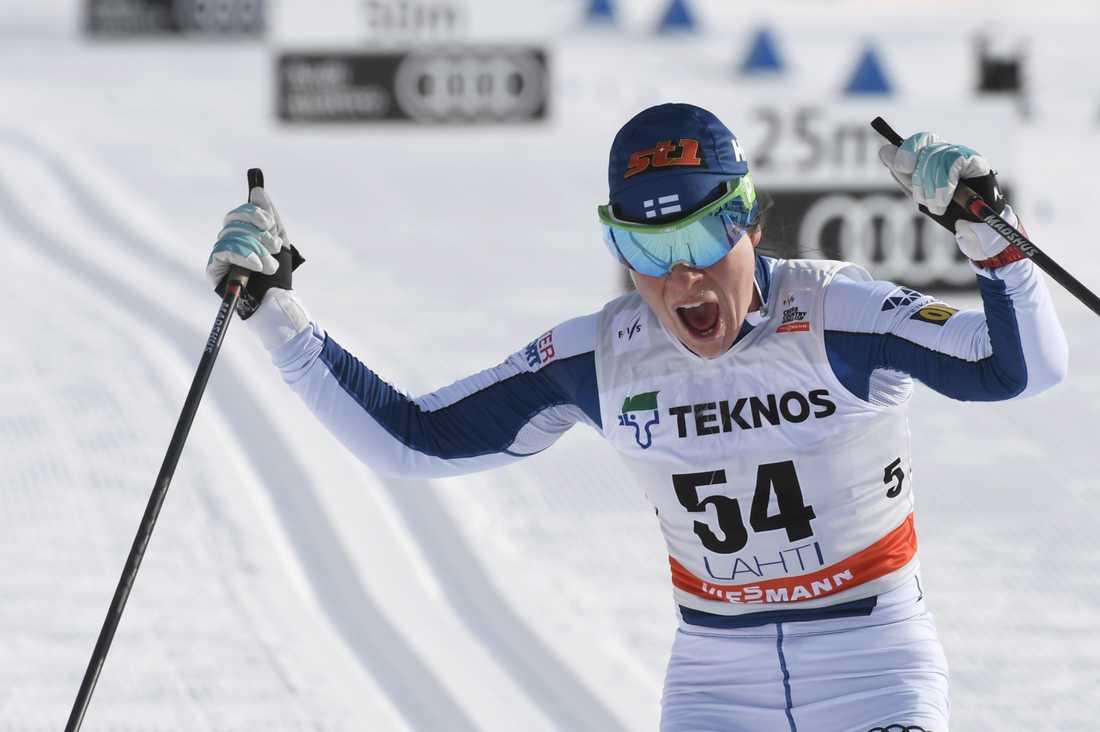 Krista Pärmäkoski vann.