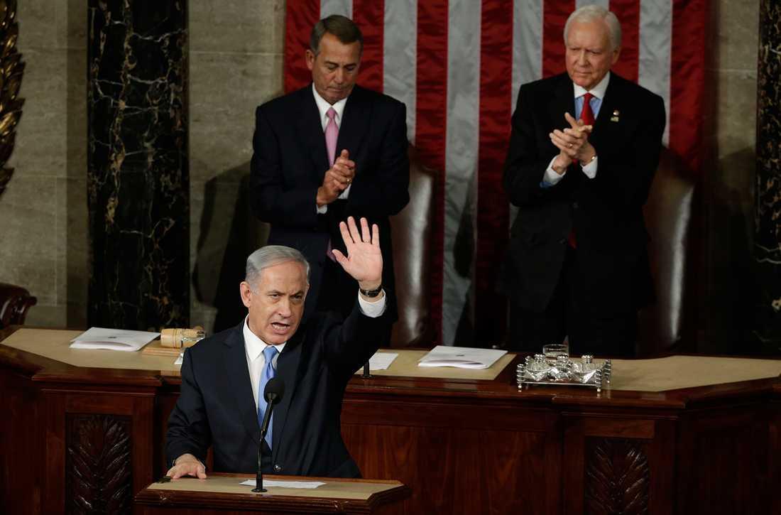 Netanyahu i kongressen.